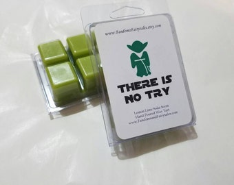 There is No Try-Yoda Wax Tarts- Star Wars inspired Clamshell wax melts -Lemon Lime Soda Scent