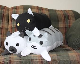 Neko Atsume inspired Log Pillow