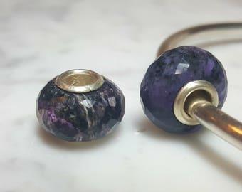 Charoite Gemstone European Bead