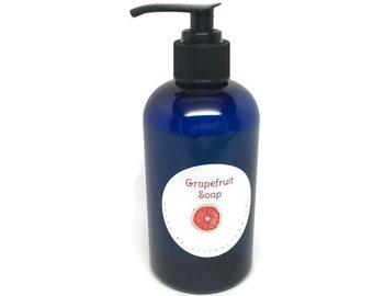 handmade liquid soap, grapefruit scented soap, grapefruit soap