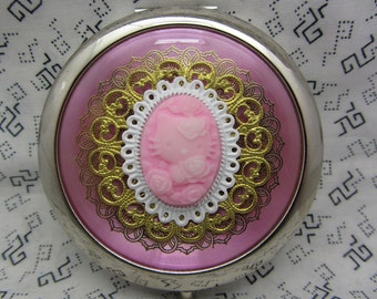 Compact Mirror Cute Kitty Comes With Protective Pouch See Last Pic