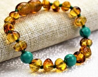 Genuine Baltic Amber. Baby Teething Bracelet. Baltic amber. Amber teething bracelet. Baby amber bracelet. Anklet. Baby amber anklet