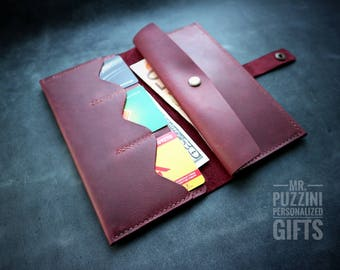 Long wallet, long leather wallet, slim wallet, Leather Wallet Woman, wallet women, credit card wallet, womens wallet, wallet gift for her