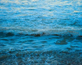 Ocean by Moonglow - NATURE photography - Beach Decor - California Coast - Ocean Beach - Waterscape - Aqua, Blue, White