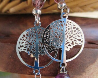 Tree of life and Amethyst earrings.