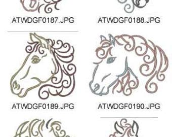 Equine-Fantasy 2 ( 10 Machine Embroidery Designs from ATW ) XYZ17D