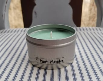 Mint Mojito Scented Candle, Soy Candle, Gift For Her, Natural Soy Candle, Handmade Candle, Hand Poured Candle, Home Decor