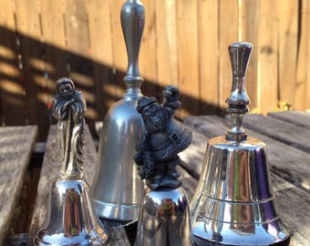 Pewter/Silver Plate Bells