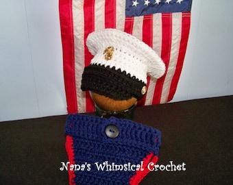 Marine's Dress Blues Hat PDF pattern