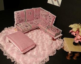 Barbie Pink Sectional Living Room Set
