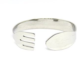 Stainless Steel Bracelet, Fork Bracelet, Women, Men, Mirror Finished, Metalwork, BLB 24,