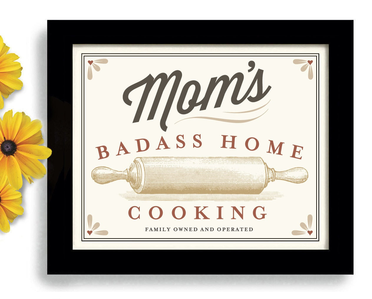 Moms Home Cooking Rolling Pin Mothers Day Baking Art