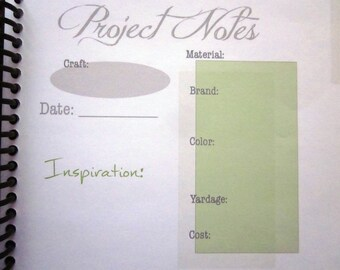Printable: Project Notes Page