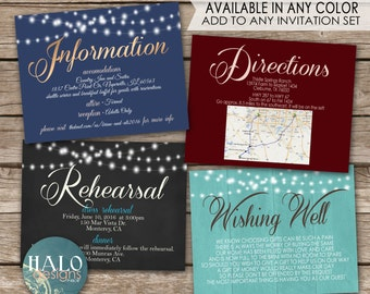 Extra info Cards - add to any invitation package