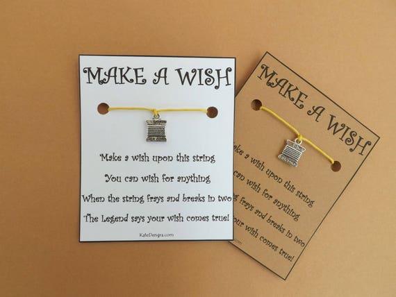 Silk Cord Skein Card Wish Bracelet