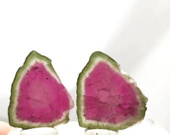 Tourmaline watermelon slice