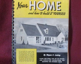 Build Your Own Home in 1947! Old Vintage Building Plans!