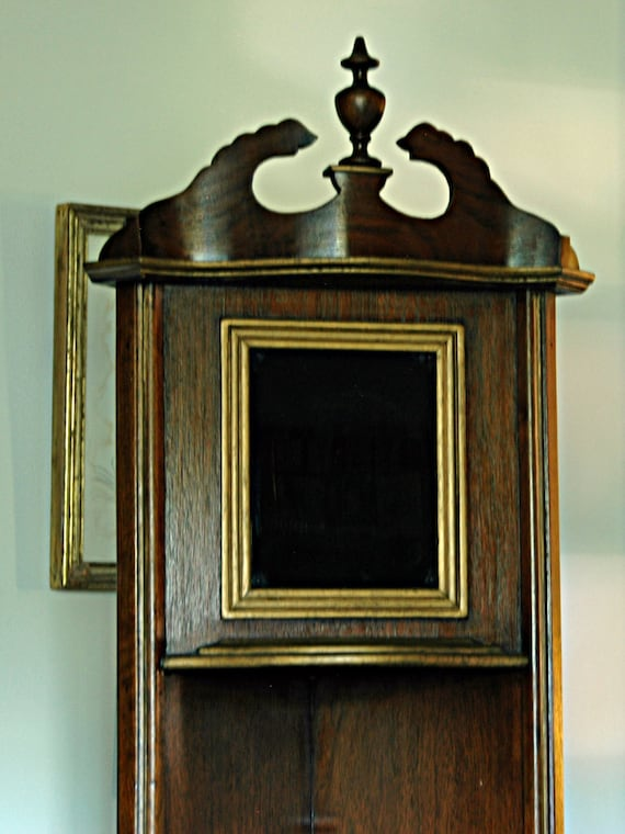 """Reduced Vintage Small OPEN CORNER CUPBOARD 1930s Sturdy Wood Curio Shelves 5' 9 1/2"""" T x 11"""" Dp Each Side Buyer Must PickUp by Appointment"""