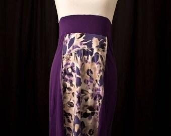Women's Large Purple & White Sundress