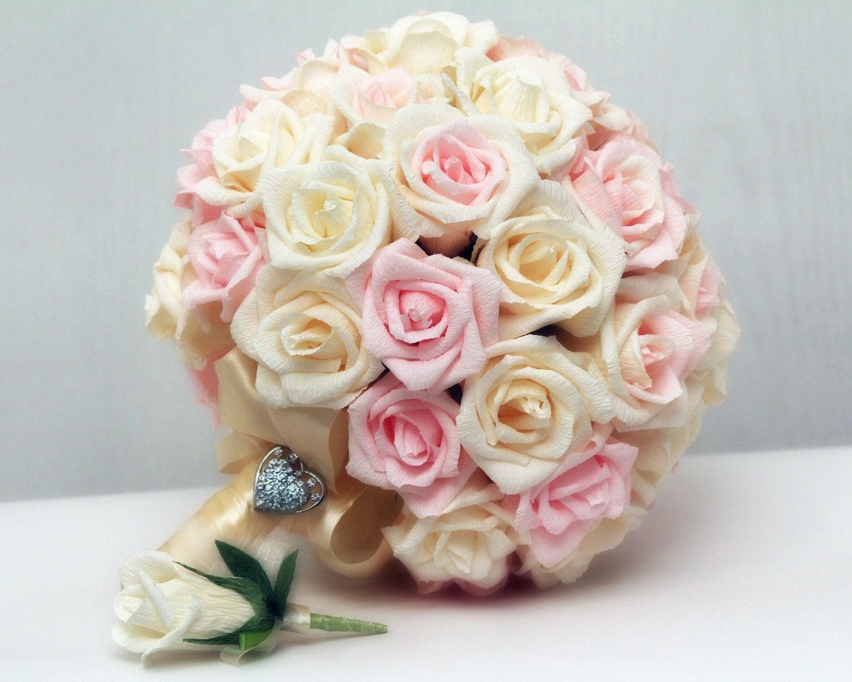 Wedding bouquet paper wedding bouquet bridal bouquet zoom izmirmasajfo Gallery
