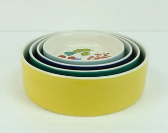 melitta BOWL SET stackable 4 dishes 60s