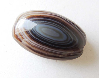 Large Laced Agate Bead Oval Shape 39x25x12 MM