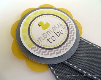 Duck Baby Shower Decorations, Rubber Duck Baby Shower Mommy To Be Pin, Baby Shower Decorations, Duck Baby Shower Corsage, Customized