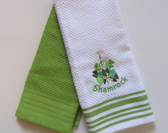 Shamrock Kitchen Hand Towel Set of 2