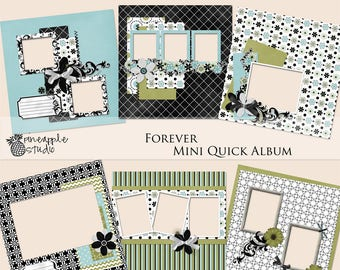 Scrapbook Quick Album, Digital Scrapbook Kit
