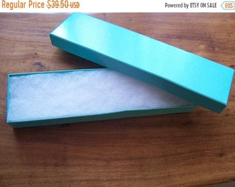 TAX SEASON Stock up 100 Pack Teal Color Cotton Filled 8X2X1 Inch Size Retail Gift Jewelry Boxes