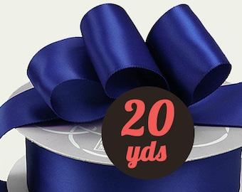 "Satin Cobalt Blue Ribbon - 7/8"" wide at 20 yards"