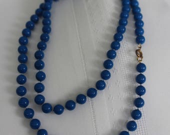 True Blue Sweater Necklace