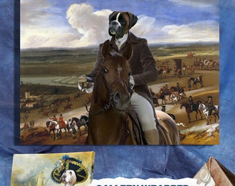 Boxer Dog Art Print Canvas Fine Artwork  GALLERY WRAPPED