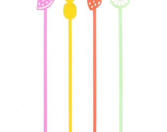 Fruit Mix Drink Stirrers