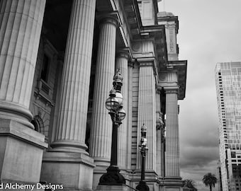 Parliament House Melbourne - Black and White Photography