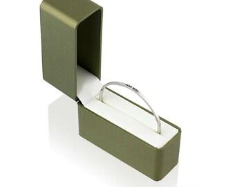 Fear Not Bangle Bracelet - Adjustable Bracelet - Stainless Steel Bracelet - Hand Stamped Bracelet - Stacking Bracelet - Christian Jewelry