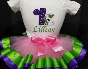 Unicorn Birthday Dress, Unicorn Tutu, Unicorn Tutu Outfit, Girls Unicorn Dress, Ribbon Tutu, Unicorn Tutu, Unicorn Birthday Tutu Outfit.