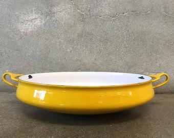 Mid Century Yellow Dansk Kobenstyle Paella Pan (NSW5B9)