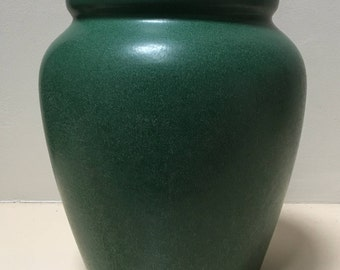 Weller Pottery Arts and Crafts Matte Green Planter - Signed