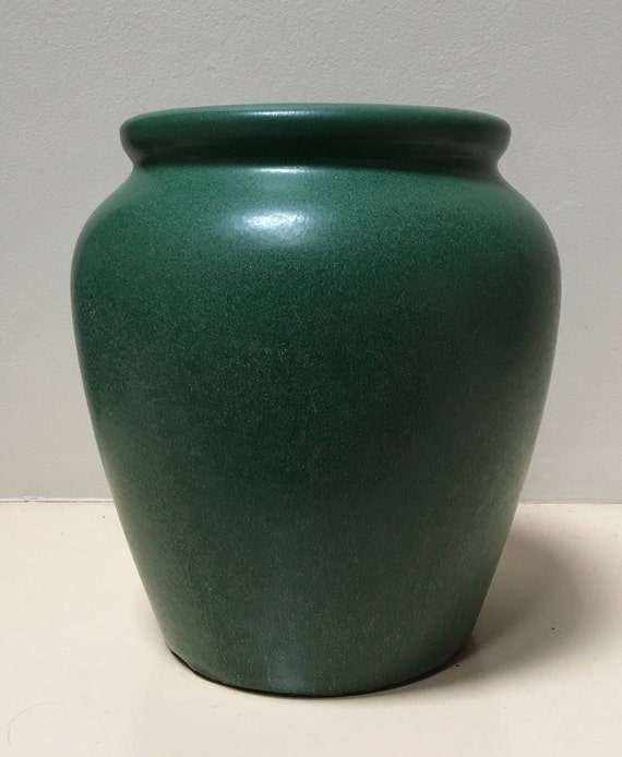 Weller Pottery Arts And Crafts Matte Green Planter Signed
