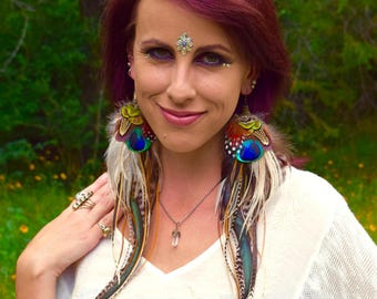 DRUIDESS Long Feather Earrings