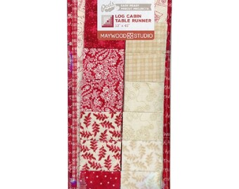 "THE LITTLE THINGS Log Cabin Table Runner Pod - 13"" x 45"" precut kit"