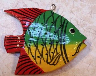 Vintage Hand Painted Fish Charm