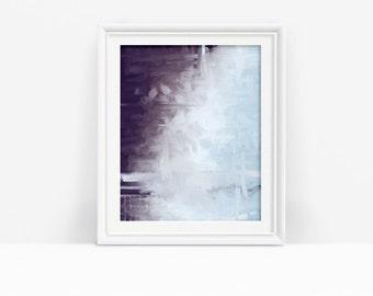 Abstract Printable Purple Artwork, Downloadable Art, Purple and Blue Art Print