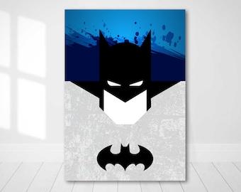 Poster Batman / Batman / Superhero Batman / Comics Poster / Minimalist Batman / Art Batman / Batman Print / Batman Gift