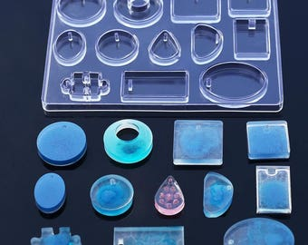 12 Designs Cabochon Silicone Mold , epoxy resin mold for jewelry