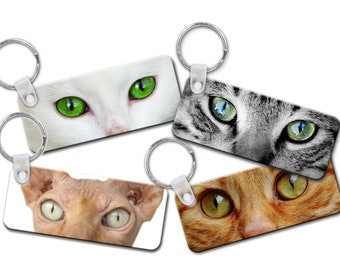 Cat Eye Keychains | 7 to choose from | Perfect gift for any Cat Lover | Stunning Images