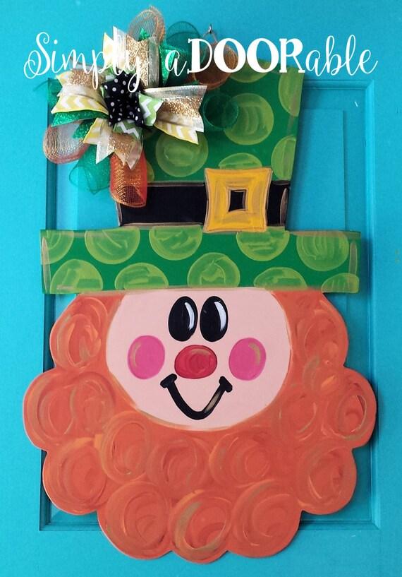 & Leprechaun Wood Door Hanger by Simply aDOORable Leprechaun