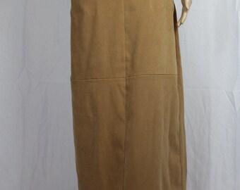 Tan white stag long skirt