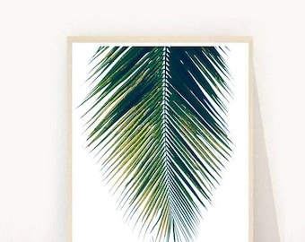 Botanical Art, Palm Art Print, Palm leaf, Palm Leaf Print, Printable Wall Art, Instant Download, Home Decor, Wall Decor, Wall Art